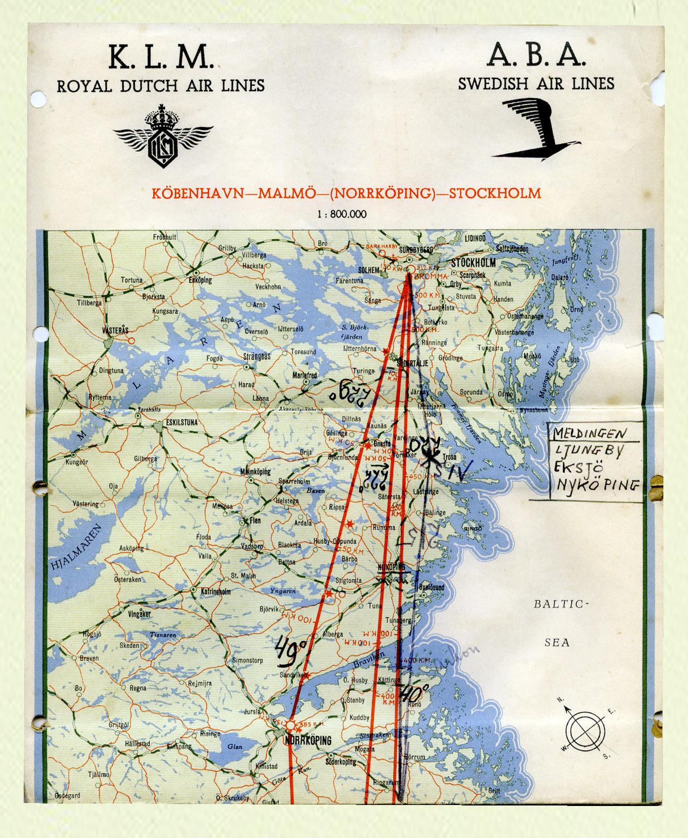 Fokker S.14-02-Kaart